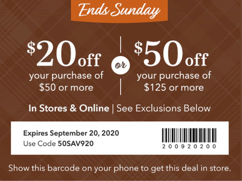 Save up to $50 at Yankee Candle.
