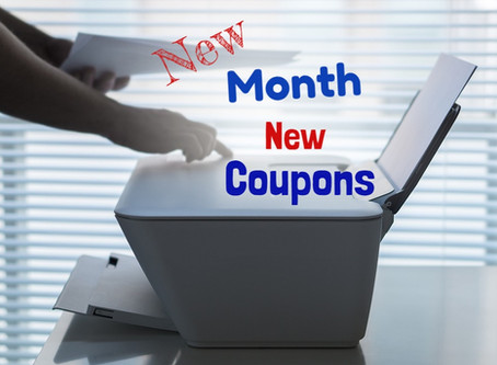 New Month, New Coupons To Print.