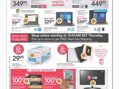 Office Depot/Office Max 2019 Black Friday Ad Scan!
