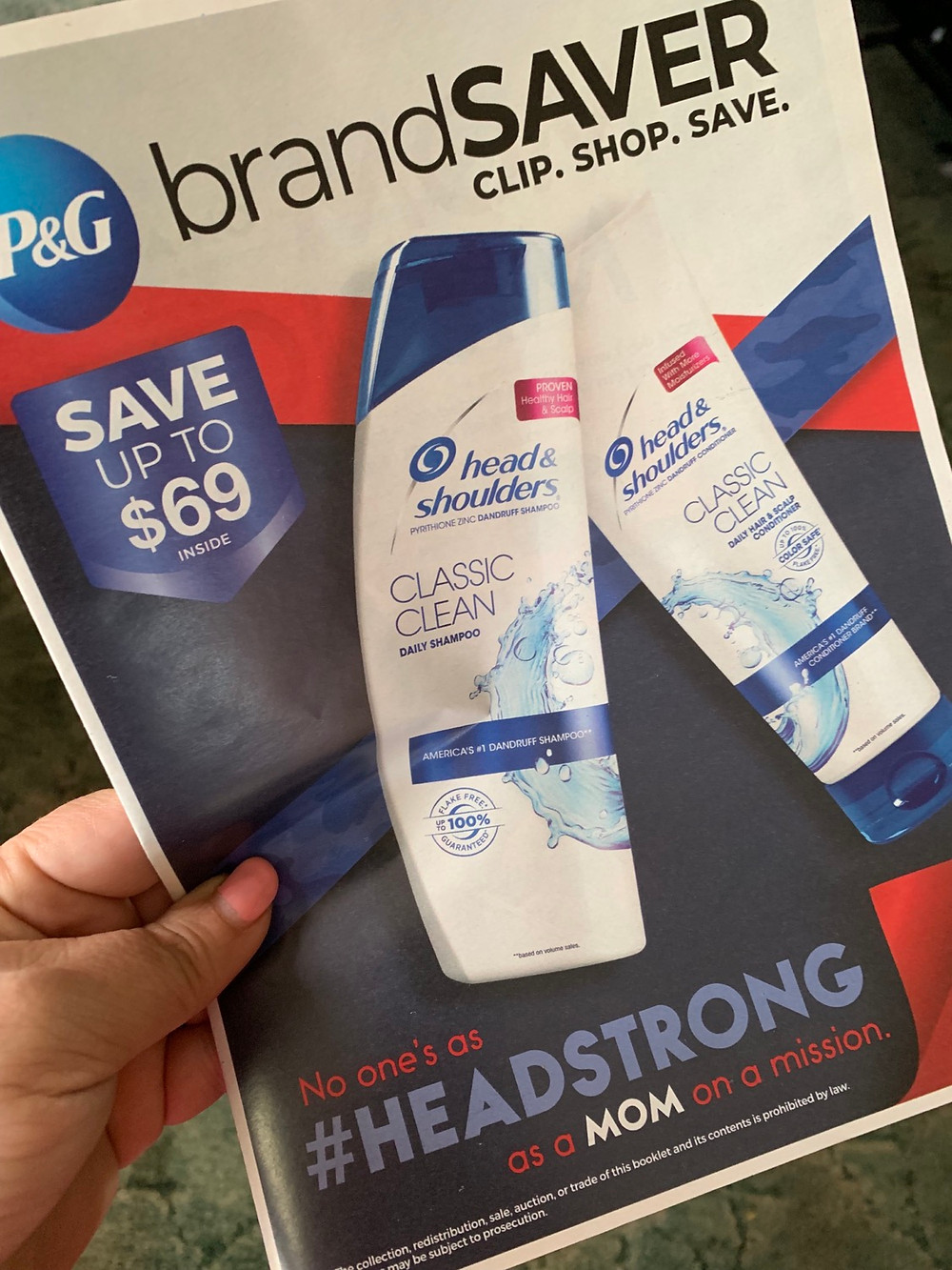 P&G Coupon insert