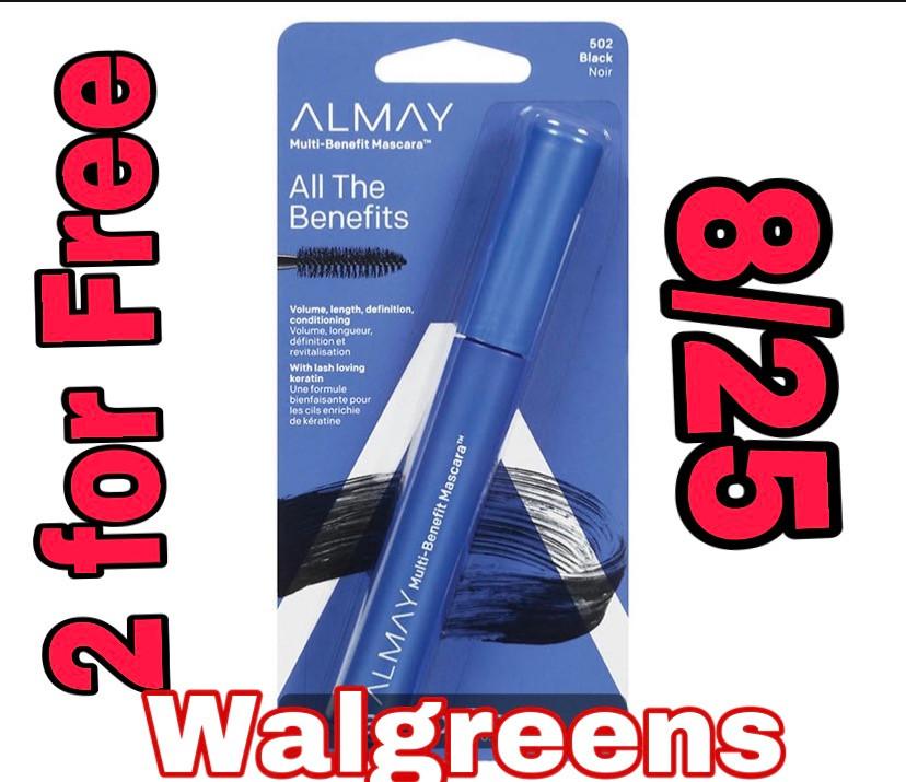 Free Almay mascara at Walgreens