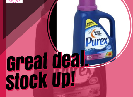 Purex Detergent only $0.99, at Walgreens Beginning 3/1!