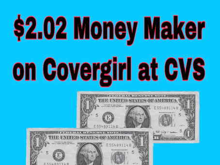 Money Maker Deal on Covergirl at CVS, Beginning 12/16