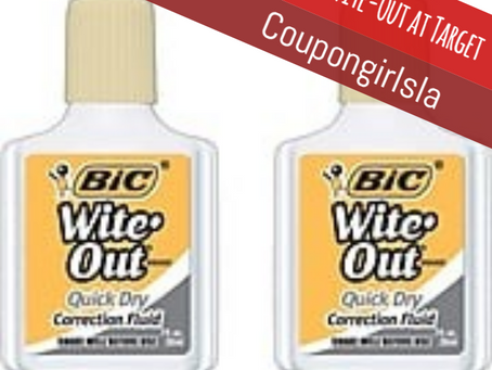 Free Bic Wite-Out at Target Beginning 1/05.