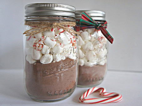 Stay Warm, with this Hot Chocolate Jar Recipe.