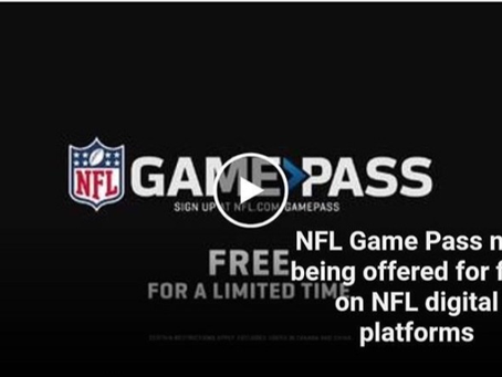 Do you need a Football Fix? Free NFL Game Pass.