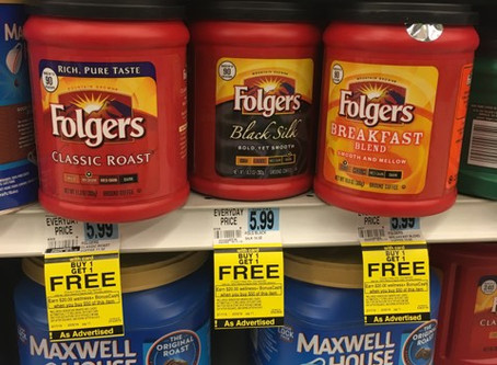 Folgers in your cup, and money in your wallet.