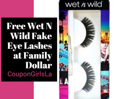 Wet n Wild False Eyelashes Free at Family Dollar.