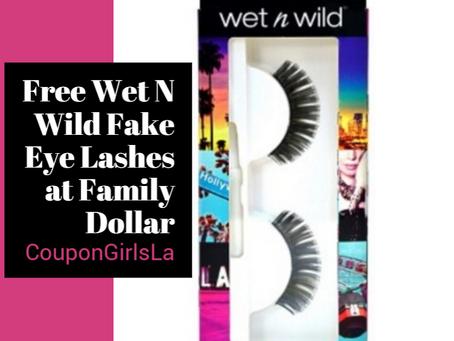 Wet n Wild False Eyelashes Free at Family Dollar.