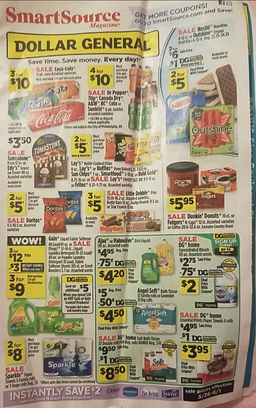 dollar general sales ad beginning 5/26