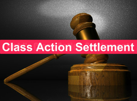 New Class Action Roundup- New Settlements this week 3/29!