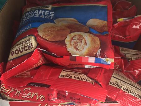 Jimmy Dean Pancake & Sausage Bites Only $0.25 each at Dollar Tree.
