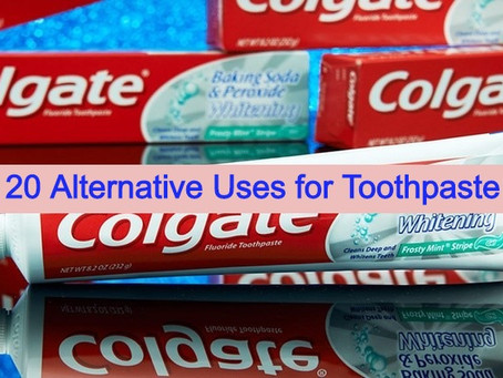 20 Alternative Uses for Toothpaste