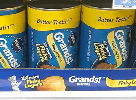 Pillsbury Grands, just $0.75 at Walmart!