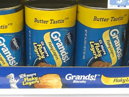 Pillsbury Grands, just $0.75 at Walmart!