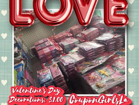 Valentine's Day Decorations, $1.00 at Dollar Tree.