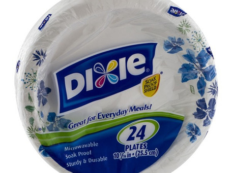 Dixie Bowls or Plates only $1.25 each at Publix.