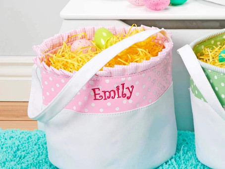 Cute Personalized Easter Baskets only $19.99