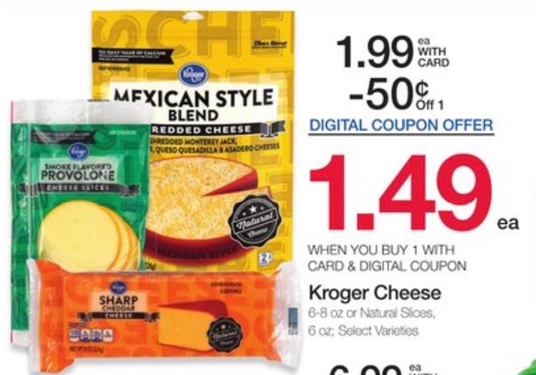 Kroger brand cheese ad