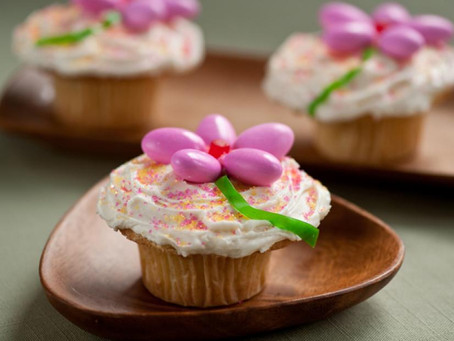 Yummy- Easter Flower Cupcakes