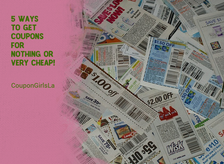 5 ways to get coupons for nothing or very cheap.