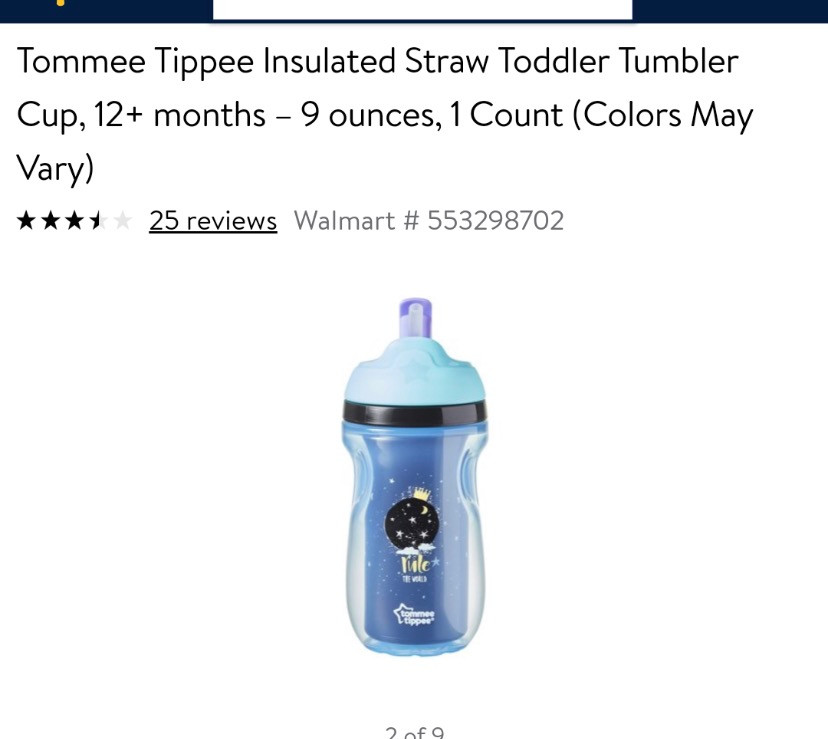 Tommee Tippie Insulated Straw tumblers