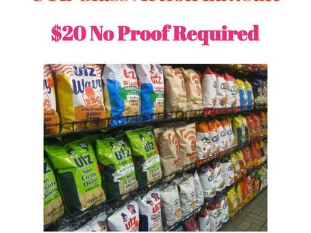 Utz Chips Settlement- $20 No Receipts Necessary.