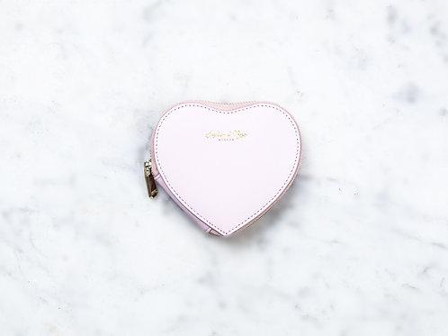 Otillie Heart Purse - Pink Nappa