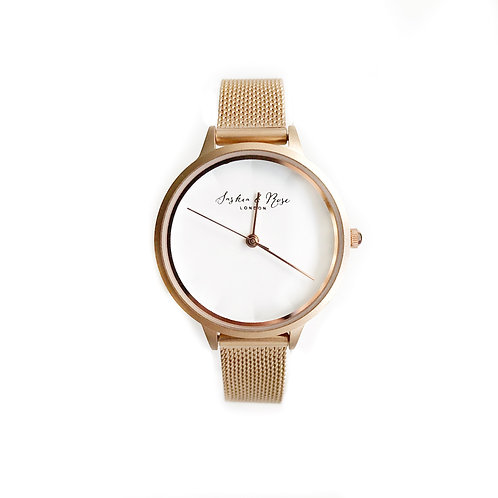 Emily Brushed Rose Gold wrist watch