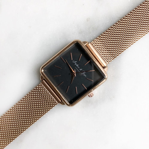 Rose gold classic adjustable watch