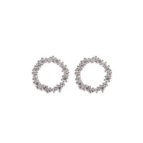 Silver wreath earrings (925 Sterling Silver & Gold Plate)