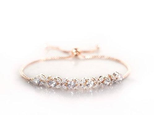 Hydrangea  rose gold bracelet