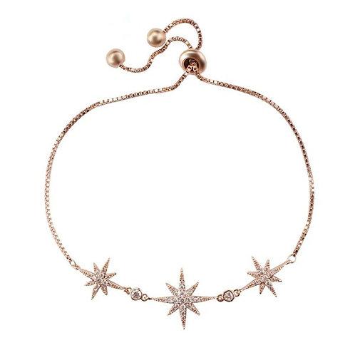 Starburst rose gold bracelet