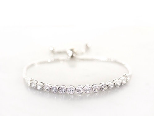 Snowdrop silver bracelet