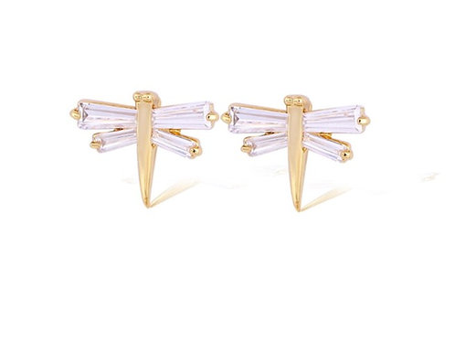 Dragonfly Gold Plate Earrings