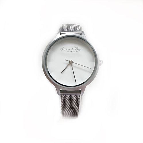 Emily Brushed Silver Writst Watch