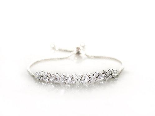 Hydrangea silver bracelet