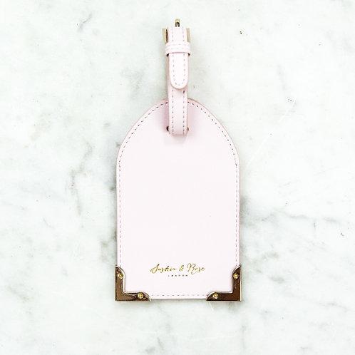 Leia Luggage Tag - Pink Nappa