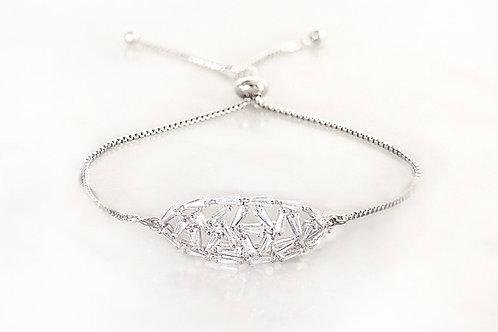 Broach silver bracelet