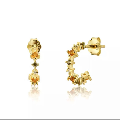 Dainty mini hoop earrings  (925 Sterling Silver & Gold Plate)
