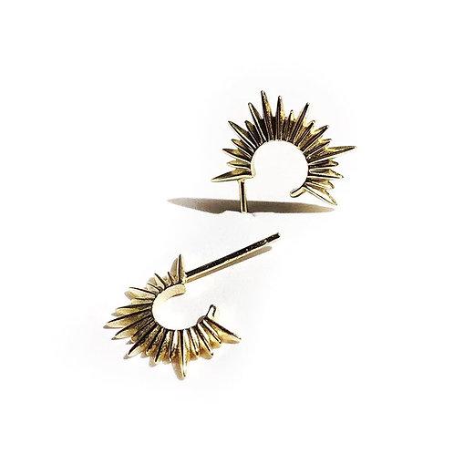 Spike Mini Hoop Earrings 925 Sterling Silver
