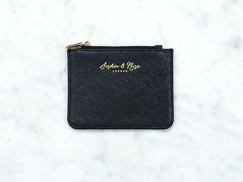 Freya Coin Purse - Black Saffiano