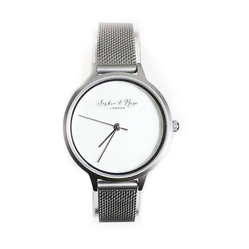 Emily Brushed Silver Wrist Watch