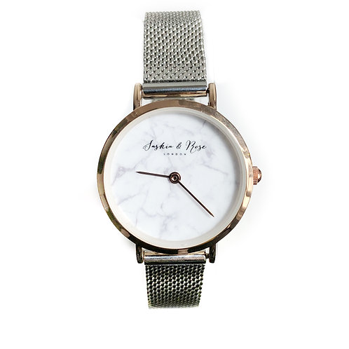 Signature Marble Saskia brush metal watch