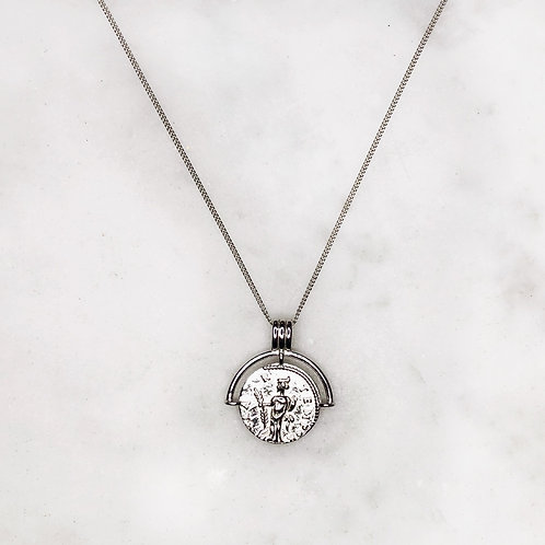 Roman coin necklace (925 Sterling Silver)