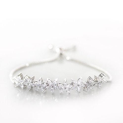 Peony silver bracelet