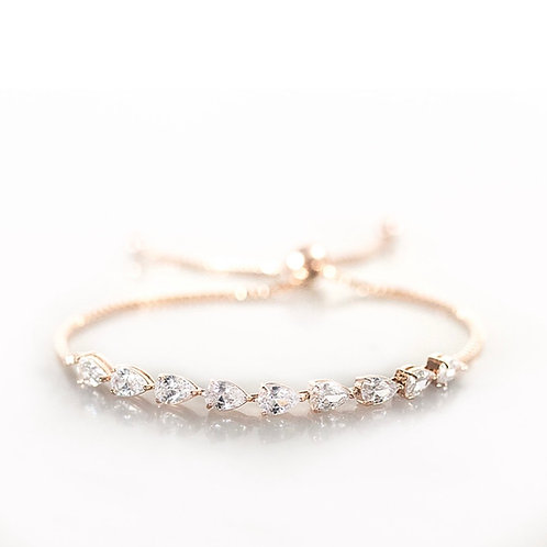 Bluebell rose gold bracelet