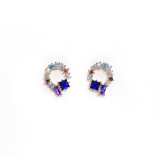 Suzie stud earrings  - Semi-precious & Crystal