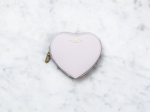 Otillie Heart Purse - Grey Nappa