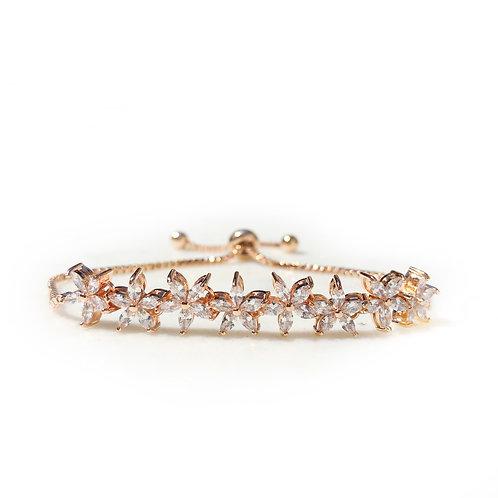 Peony Rose Gold Adjustable Bracelet